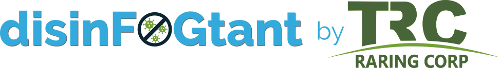 disinFOGTant by Raring Corp logo